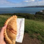 Fantastic Cornish pasty from Nicky B's pasty shop in Port Isaac! I would thoroughly recommend.