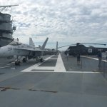 On top of the aircraft carrier