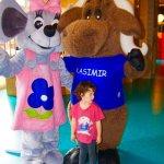 Maskottchen Kasimir & Lilly wurden extra zum Geburtstagsfest geladen