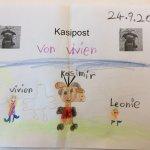 Kinder können für Kasimir Zeichnungen abgeben