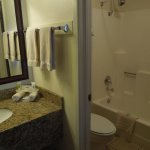 Adequate (but small) bathroom area