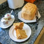 Home-made bread and cakes