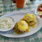Superb!! Best eggs benedict and soysage!