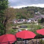 terrasse et vue sur la vallée