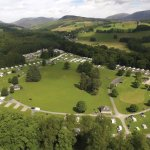 Blair castle Caravan Park in its setting