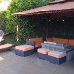 firepit lounge area