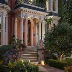 The Mansion on Delaware Avenue's Entrance at Twilight