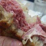 Reuben on buttery rye bread