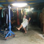 Excellent dive shop with large storage area. Drop your dive gear and they take care of it from t