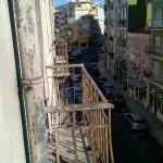 Balcony of the abandoned apartment next door.