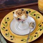 Fruit, yogurt, and granola. A lovely starter or light breakfast.
