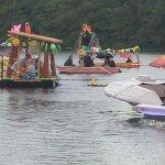 im Sommer feiert der Anglerverlin am Bötzsee ein Fest mit einer Regatta
