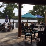 This is your amazing view from the deck at Daikers!