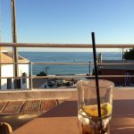 Drink and snack bar with a nice terrace halfway up the hill from the beach. A relaxing place to