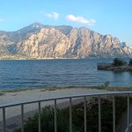 Looking across the lake to Limone (Morning)