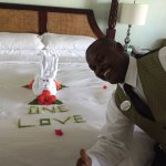 Butler Quinton and his amazing towel art