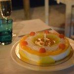 My vegan Tembleque 50th birthday cake....