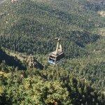 Looking down from Sandia Peak.