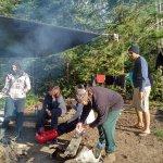 Camp fire & 'dining' area