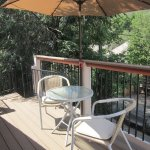The upper deck is a great place to enjoy a sandwich or a glass of wine.