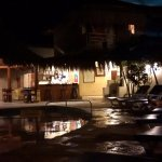 La piscina de noche