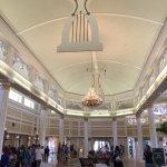The hotel's main lobby.