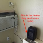 Electric heater sent to us because wall heater didn't work.