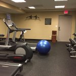 Gym that you have to go through the basement