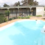 Cool down in our large outdoor swimming pool