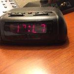 Broken bedside clock