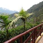 Balcon con vista a la ciudad de Baños