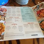 large menu to choose from