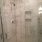 Modern shower with excellent water pressure