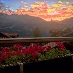 Sun setting in Wengen