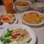 Papaya Salad, Spring Rolls, Tom Yum Soup