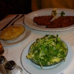 Salad in the foreground, but the Schnitzel were the protagonists!