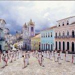 Esercitazioni di capoeira a Salvador da Bahia