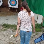 Couple doing Archery on Wednesday 21st September 2016