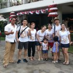 with family from Taiwan