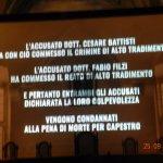 La sentenza di condanna a morte di Battisti e di Filzi