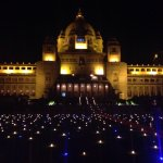 Umaid Bhawan's gloriously regal visage in the evening