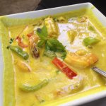 Yellow shrimp curry