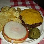 Cheeseburger and Chips ($6.00)