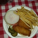Fish Sandwich ($6.00) and Fries ($2.00)