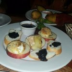 My Favorite.. that sauce is amazing!! Goat Cheese and Apple Appetizer. I RECOMMEND.