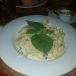 Fettuccine Alfredo with Asparagus and Sun Dried Tomato. Yes its Mexico but had to try. FAVORITE!