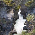 below the falls