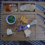 Our afternoon cheese and crackers treat