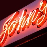Our iconic neon sign.