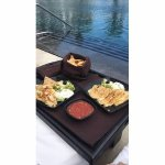 We ate poolside everyday! Loved it! This was shrimp quesadillas. So good!